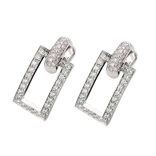 Manette earrings full diamonds