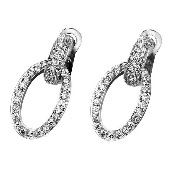 Manette earring oval full